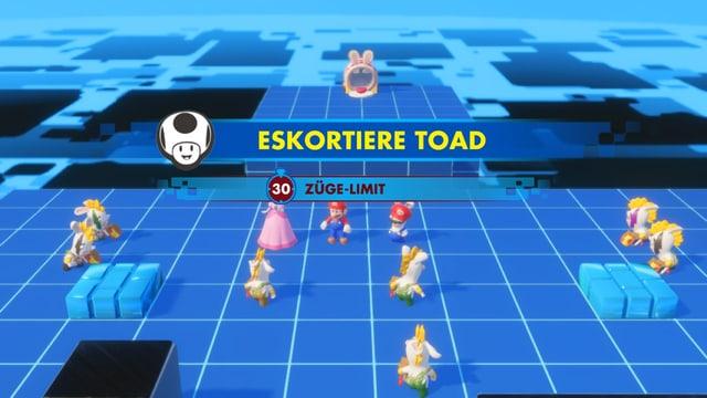 Eskortiere Toad in 30 Zügen.