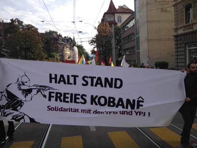 Demonstration von Kurden in Zürich