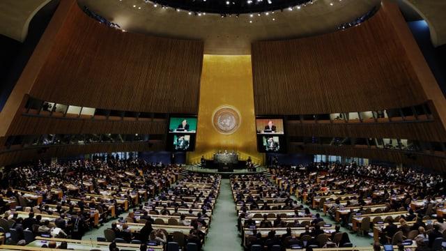Blick in die UNO-Vollversammlung in New York.