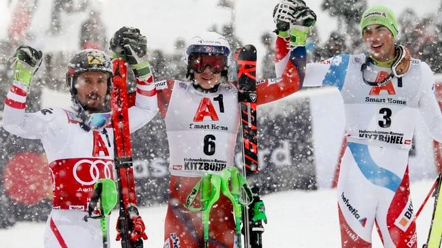 Marcel Hirscher, Henrik Kristoffersen, Daniel Yule