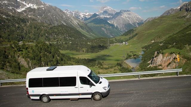 Purtret dal bus alpin sin il pass d'Alvra.