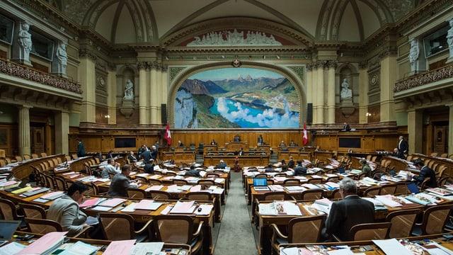 Der fast leere Nationalratssaal.