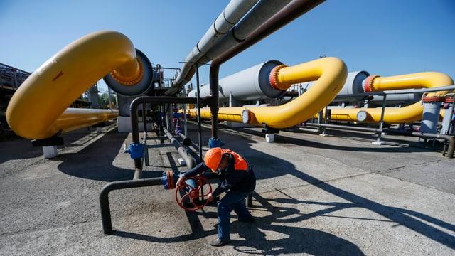 Anlagen von Gazprom.