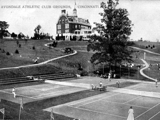 Altes Bild des Tennis-Turniers in Cincinnati