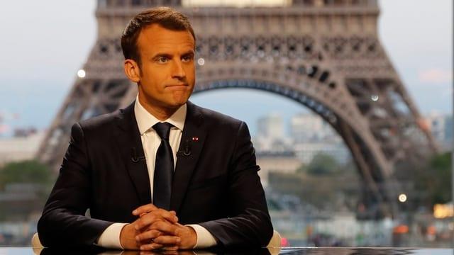 purtret dal president da la Frantscha, Emmanuel Macron