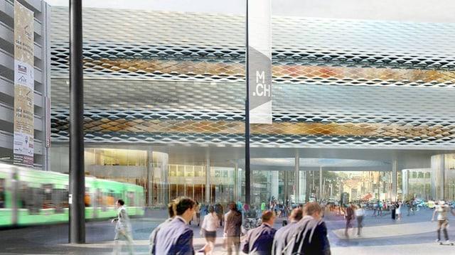 Computeranimiertes Bild der neuen Messe-Passerelle
