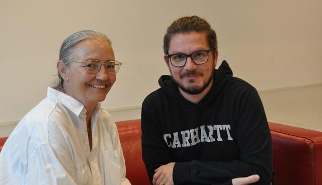 La schurnalista Pierina Hassler ed il manader da social media Claudio Candinas