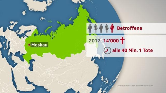 Grafik zu den Betroffenen: 2012 starben 14'000 Menschen Opfer an häuslicher Gewalt.