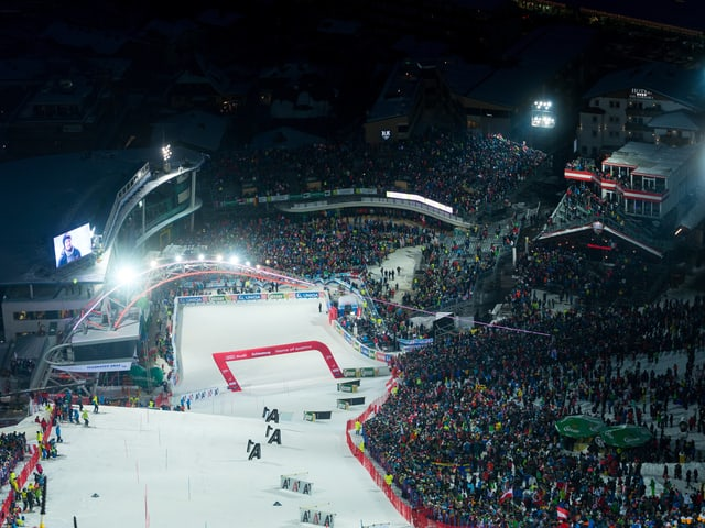 Die Piste in Schladming.
