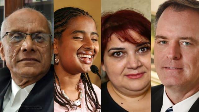 Die vier Preisträger: