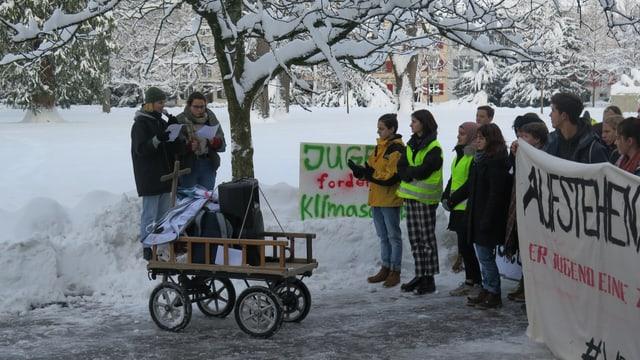 Streikende Schüler in St.Gallen
