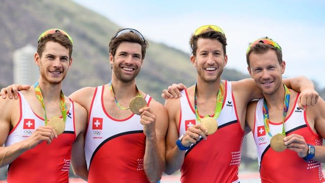 quatter remblader che han gudagnà aur als gieus olimpics da stad