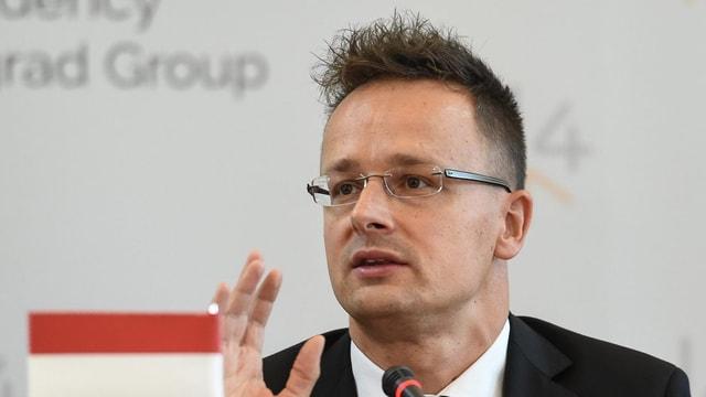Il minister d'exteriur da l'Ungaria, Péter Szijjártó.
