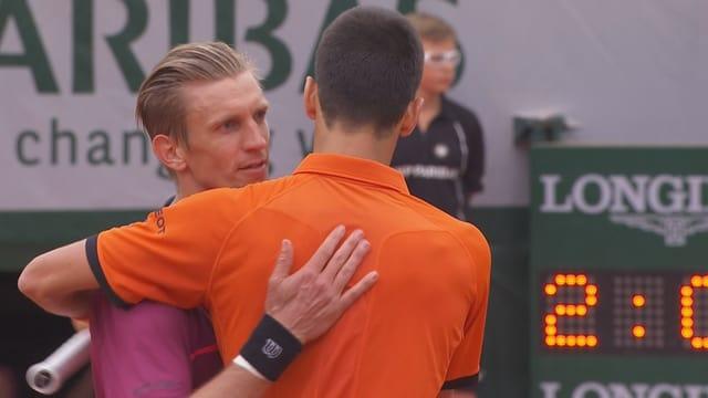 Nieminen forderte Djokovic stark.