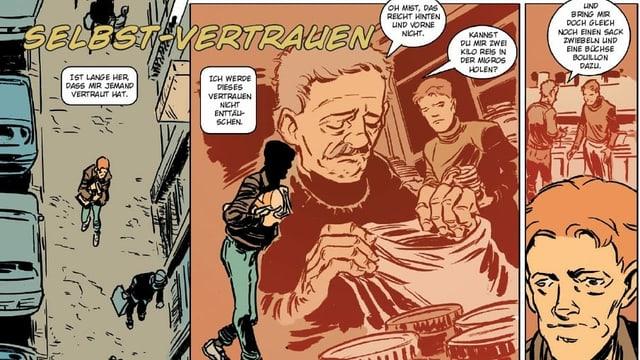 Ausschnitt aus einem Comic der Gassenzeitung