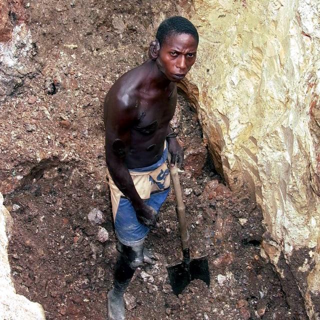 Minenarbeiter im Kongo