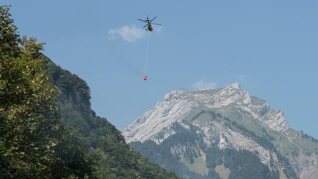 Helicopter che stizza il fieu.