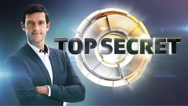 Logo «Top Secret» mit Moderator Roman Kilchsperger