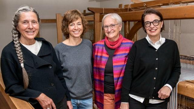 Da san.: Sonja Cazin, Manuela Steiner, Barbara Wälchli e la nova presidenta Maya Repele