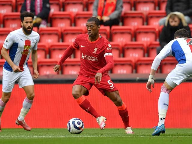 Georginio Wijnaldum im Trikot des FC Liverpool bei einem Spiel