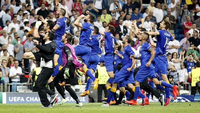 L'equipa da Juventus Torino sa legra da sia victoria cunter Real Madrid.