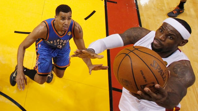 Die Heat mit LeBron James erreichten in der Regular Season die besseren Werte als Thabo Sefoloshas Oklahoma.