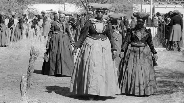 Herero-Frauen in Namibia (Archivbild).