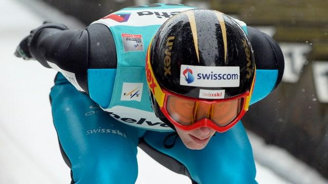 Bild des Einsiedler Skispringers Pascal Kälin.