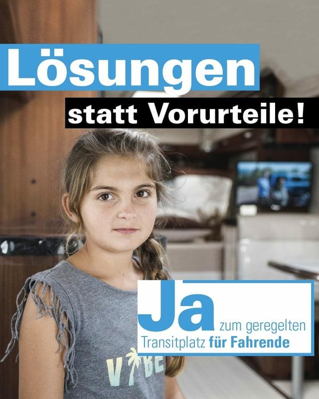 Ausschnitt des offiziellen Plakats der Befürworter eines Transitplatzes in Wileroltigen.
