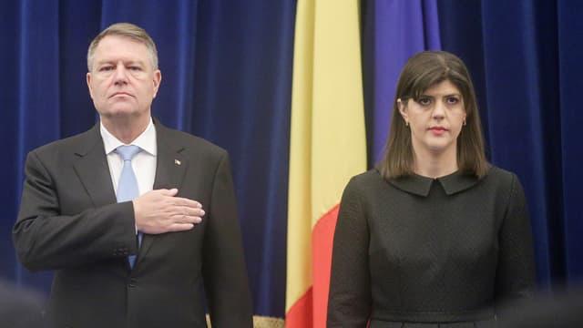 Klaus Iohannis und Laura Codruta Kövesi