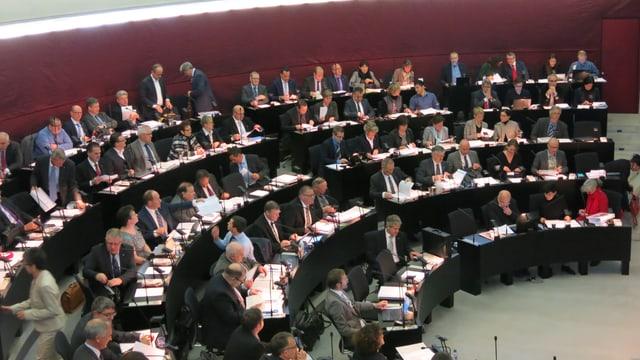 Der Luzerner Kantonsrat bei einer Tagung.