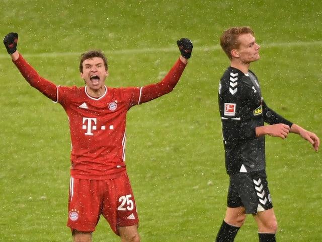 Thomas Müller nach dem entscheidenden 2:1.