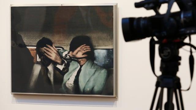 In der Londoner «Tate»-Galerie ist ein Foto von Mick Jagger zu sehen, in dem er schützend seine Hand vors Gesicht hält.
