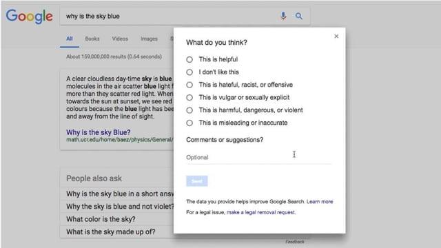 Google verbessert seine Suchanfragen.
