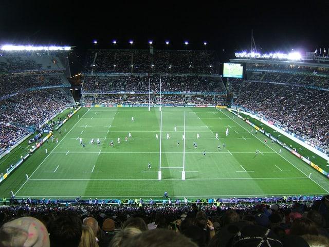 Rugby-Feld aus der Vogel-Perspektive