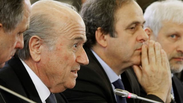 Fifa-Präsident Sepp Blatter und Uefa-Präsident Michel Platini.