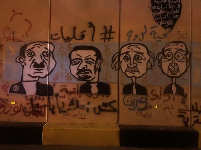 Graffiti in Libanon