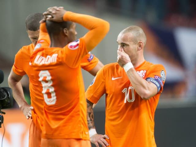 Enttäuschte Holländer.