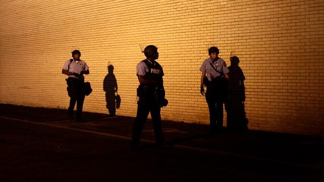 Polizeipatrouille in Ferguson.