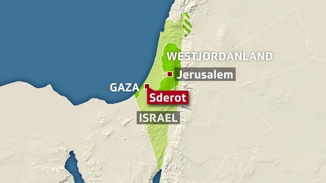 Sderot in Israel.