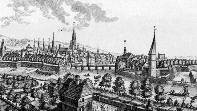 Kupferstich der Stadt Solothurn.