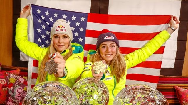Lindsey Vonn und Mikaela Shiffrin.