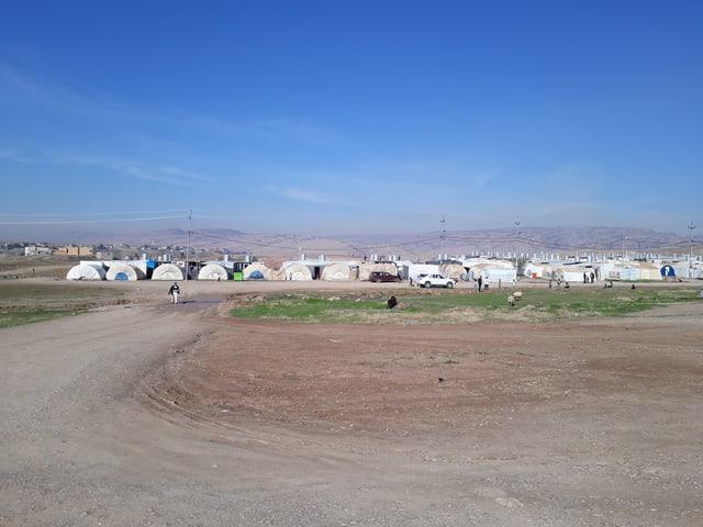 Das Flüchtlingslager von aussen betrachtet