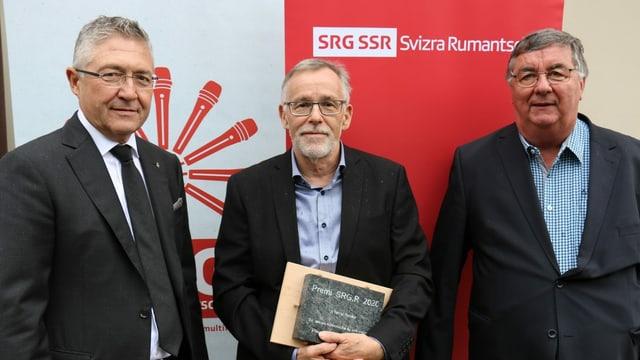 Vincent Augustin, Tarcisi Hendry, undrà cun il Premi SRG.R 2020 ed Ursus Brunold