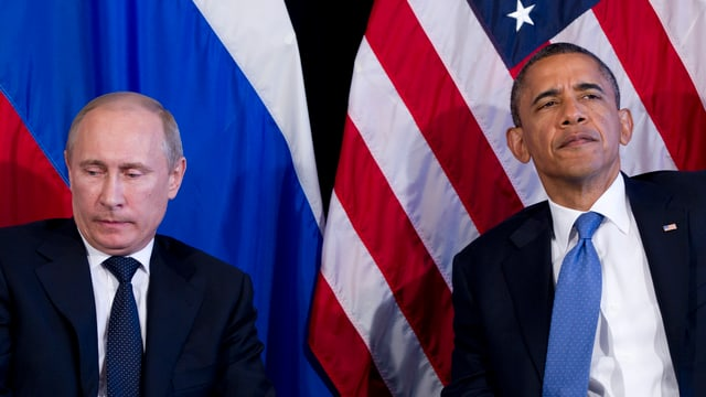 Putin neben Obama 2012.