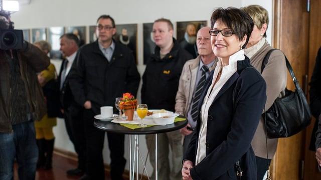 Inge Schmid an Wahlveranstaltung