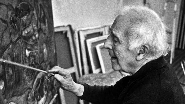 Marc Chagall in seinem Atelier