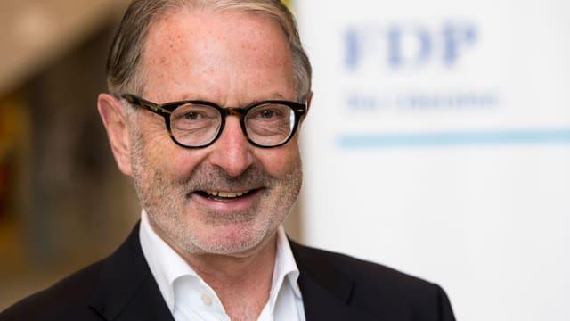 Hermann Hess während der Wahlfeier in Frauenfeld im Oktober 2015. Porträt.