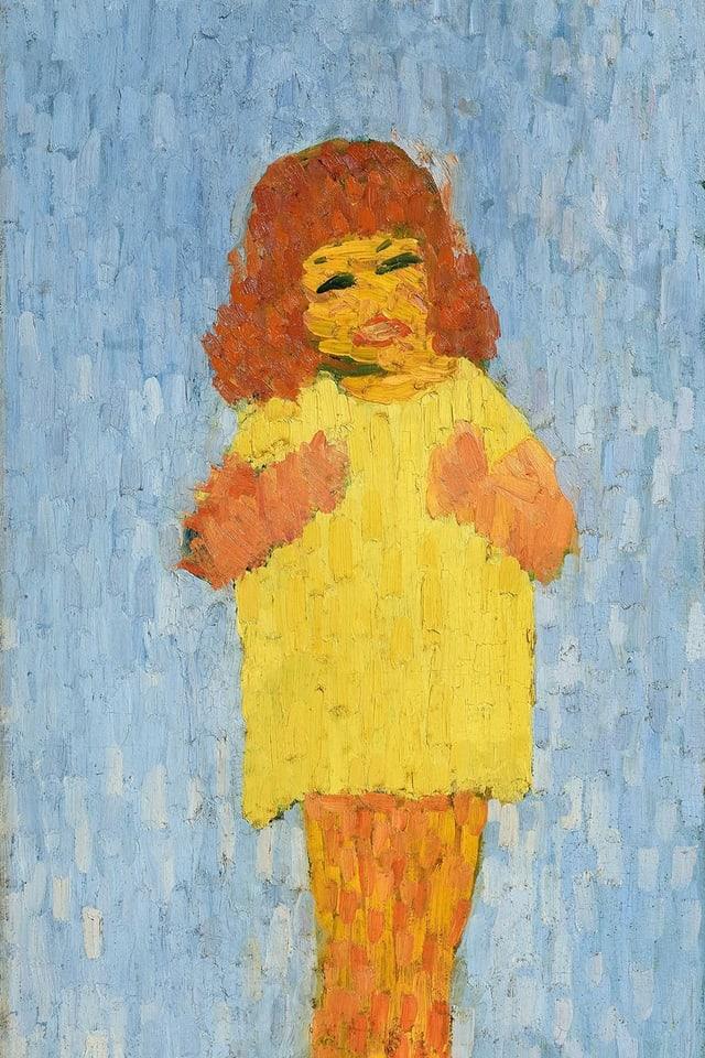 Ottilia cun trais onns enturn il 1907 picturà dal bab Giovanni Giacometti