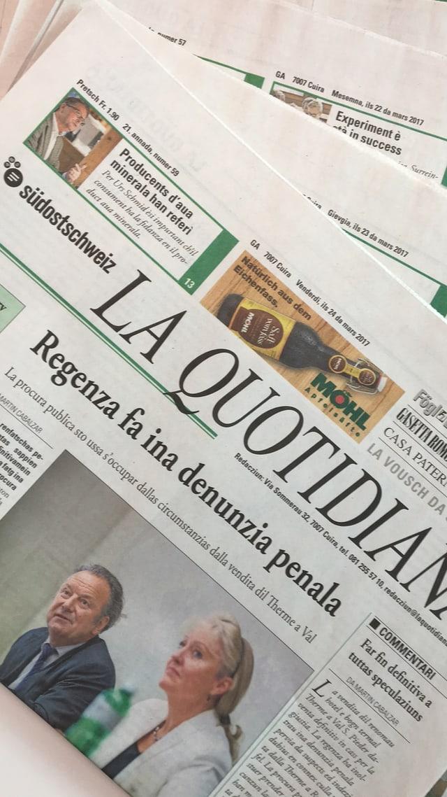 Die Tageszeitung «La Quotidiana»